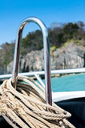 speedboats: rope on speedboats  Stock Photo