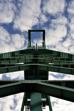 degrading: Mining tower Stock Photo