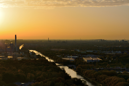 north rhine westphalia: Sunset North Rhine Westphalia