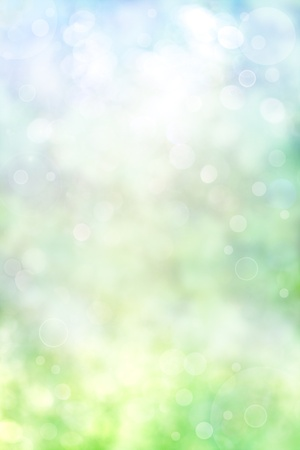An abstract spring background with bokeh effects. photo