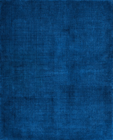 fabric texture: A vintage cloth book cover with a blue sceen pattern and grunge background textures. Stock Photo