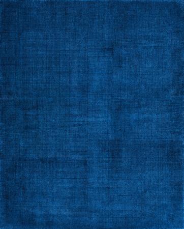 Een boekomslag met een blauwe sceen patroon en grunge achtergrondpatronen van vintage doek. Stockfoto