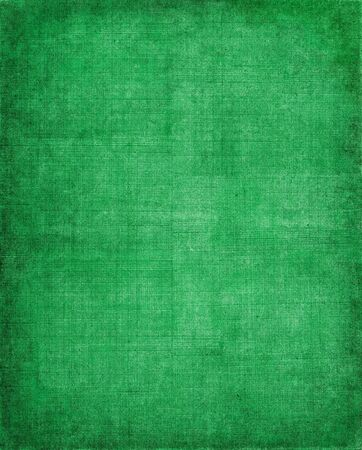crosshatched: Old vintage green cloth with a screen pattern and dark vignette. Stock Photo