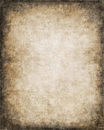 Een oude, vintage papier achtergrond met een subtiel patroon scherm en donker vignet. Stockfoto