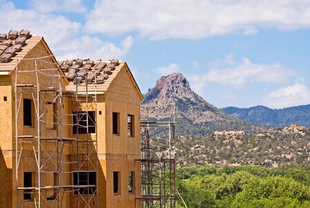 Building construction in the American west. Stock Photo - 10032608