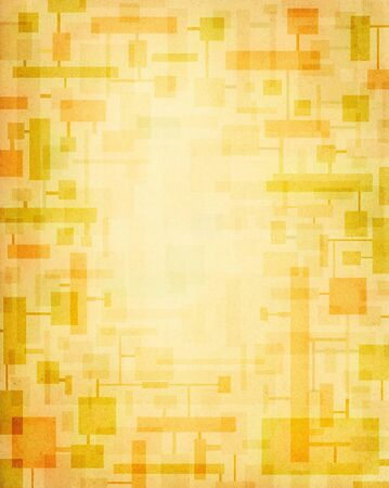 Geometric shapes on a textured paper background.