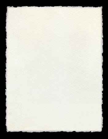 Aquarel papier met echte deckled randen.