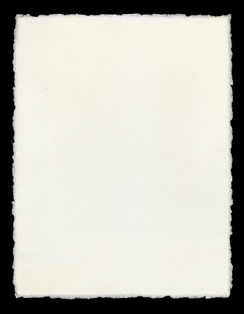 deckled: Watercolor paper with true deckled edges.
