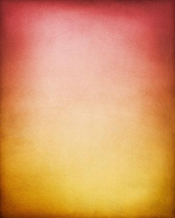 A vintage, textured paper background with a yellow-brown to red  gradient.