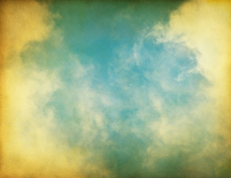 Fog, clouds, and sky on a textured vintage paper background. Stock Photo - 10032633