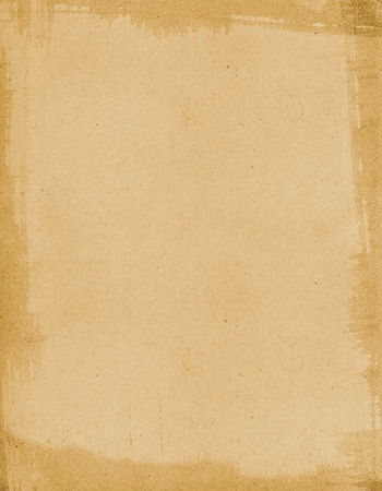 distressed paper: Old paper with a subtle brush-stroke stained border.