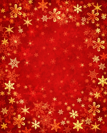 Snowflakes on a textured blue background.