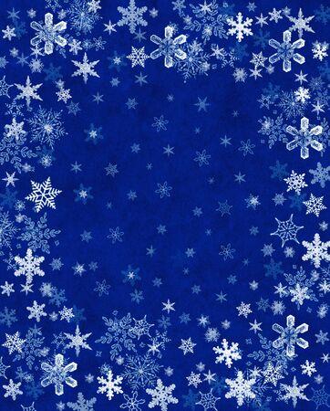 テクスチャの青い背景の雪。