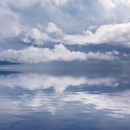 Storm clouds over a calm sea in the Santa Barbara channel. Stock Photo - 10137104