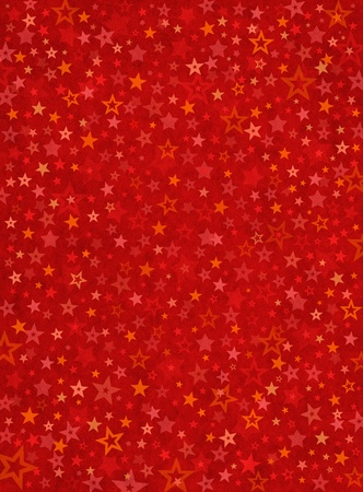 A dense field of star shapes on a textured red background. photo