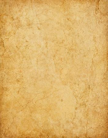 갈라진 금: 얼룩과 균열 오래 된 빈티지 카드 용지.