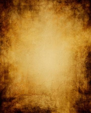 пергамент: Старая бумага с шероховатой темное виньетка, трещин и светящегося центра.