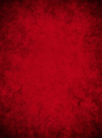 A dark red paper background with mottled grunge patterns.