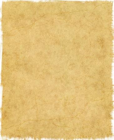 pergamino: Antiguo papel vintage con bordes gastados y grietas.