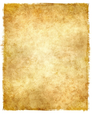 Grungy old paper with tattered edges and a glowing center. Imagens - 10225175