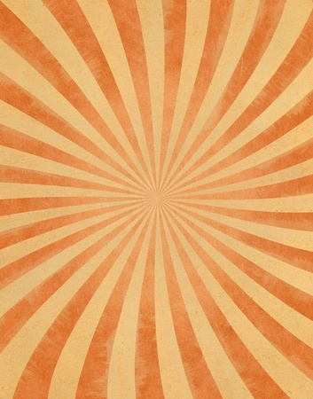ray of light: A curved sunbeam pattern on vintage paper.