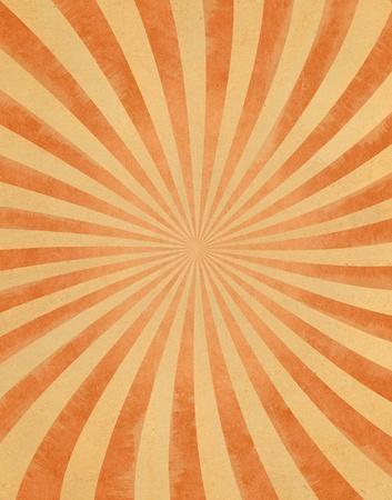 radiating: Un modello raggio di sole curvo su carta vintage. Archivio Fotografico
