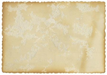 Una postal vieja de la vendimia con decoración bordes acanalados. Foto de archivo