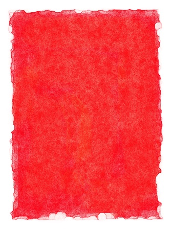 deckled: A red paper background with watercolor edges.