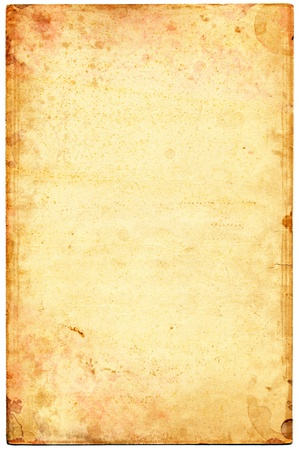 Old stained and mottled paper. Stock Photo