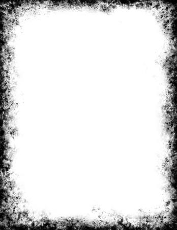 Un marco negro grungy.