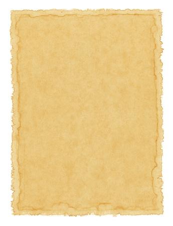 pergamino: Antiguo con textura de papel con un borde de waterstained.