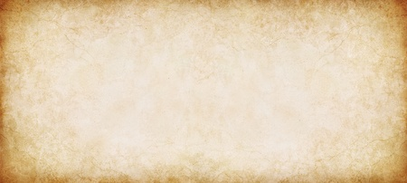 ancient papyrus: A vintage, textured paper background in a panorama format.