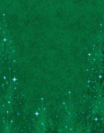 Textured Christmas trees with twinkling star effects. Zdjęcie Seryjne - 10380897