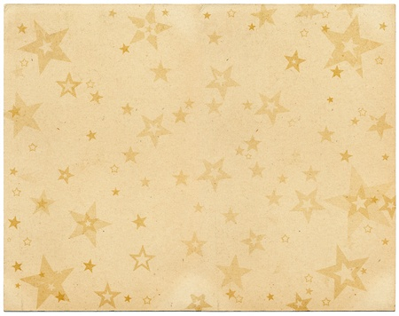 Faded stars on old vintage paper.