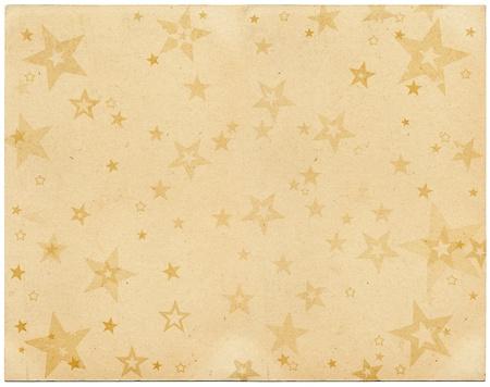 Faded sterren op oude vintage papier.