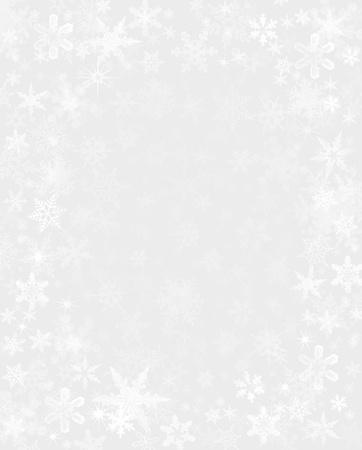 微妙に薄い灰色の背景に雪をレンダリングされます。 写真素材