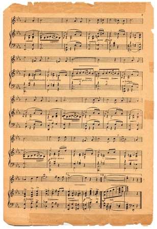 music background: Old sheet music circa 1920.