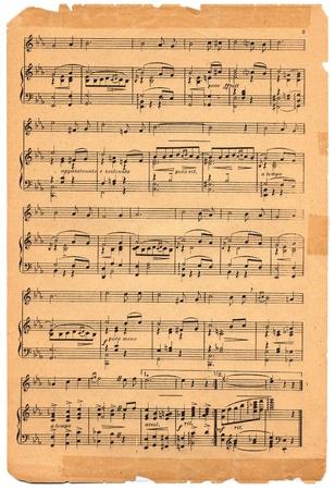 Oude bladmuziek circa 1920. Redactioneel