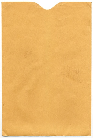envelope: An old thumb-cut envelope from 1962.