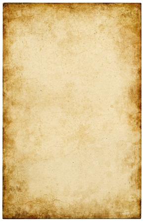 sepia: Old vintage paper with stains and scratches.
