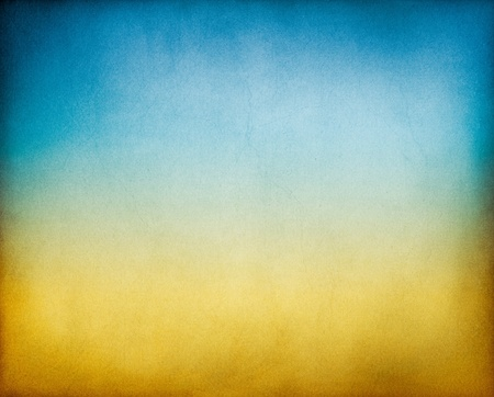 gradation: A vintage, textured paper background with an earth to sky toned gradient. Stock Photo