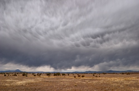 turbulence: A fast-moving winter storm over the Arizona high desert in winter.