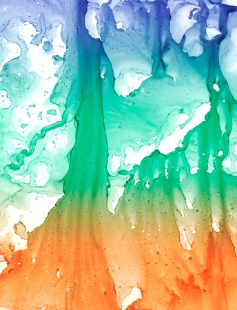 abstruse: An abstract background of splattered ink drips and smears.