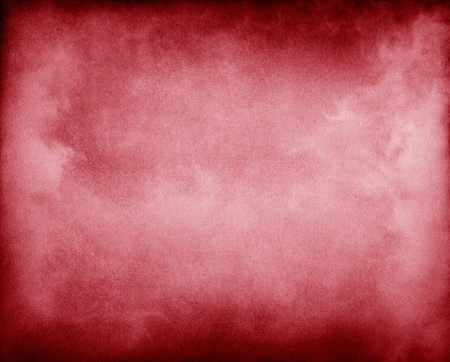 pleasing: Fog and clouds on a red paper background.  Image displays a pleasing paper grain and texture at 100%.  Stock Photo