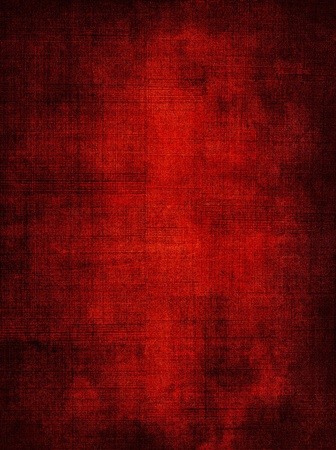 fabric textures: A red screen mesh pattern with a dark grunge vignette. Stock Photo