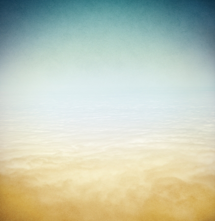 cross processed: A dense fog bank over the Pacific ocean done in a vintage style Stock Photo