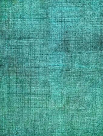 aquamarin: Ein t�rkis, vintage Tuch Buchumschlag mit einem schweren sceen Muster und Grunge-Hintergrund Texturen.
