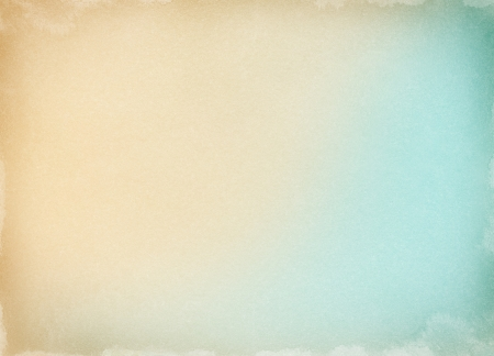 pastel background: Old paper with a colored gradient and watercolor stains along the borders.  Image has a pleasing grain pattern at 100%. Stock Photo