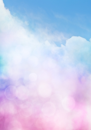 An abstract cloudscape with bokeh effects  Banco de Imagens