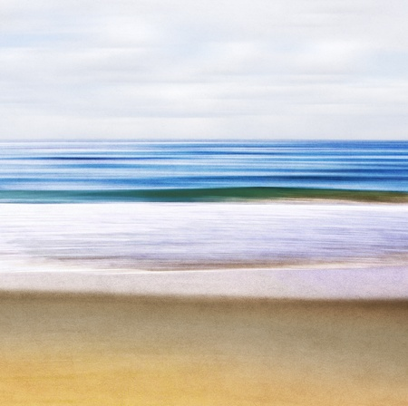pleasing: An abstract ocean seascape with blurred motion   Image displays a paper texture and pleasing grain pattern when viewed at 100